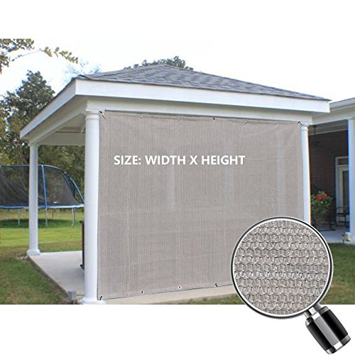 Alion Home Sun Shade Privacy Panel with Grommets on 2 Sides for Patio, Awning, Window, Pergola or Gazebo - Smoke Grey (8' x 8')