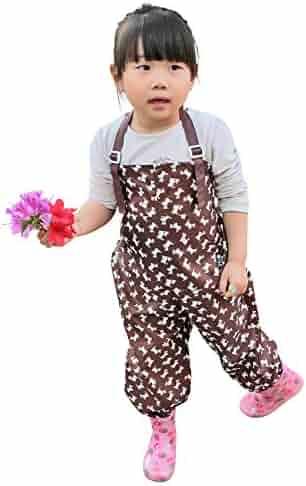 Plie Children Kids Waterproof Jumpsuit Overalls Art Smock Small Baby Pink Dot
