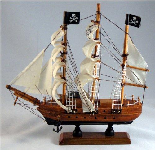 Pirate Ship Wood 9 X 9 Nautical Maritime Boat Decor (Wooden Pirate Ship)