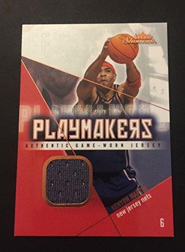 (Kenyon Martin Nets Cincinnati 2004 Fleer Playmakers Jersey Certified JN15)