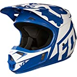 Fox Racing Youth V1 Blue White Race Helmet - Youth Large