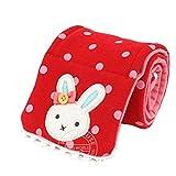 Baby Girl Scarf Warm Shawl Rabbit Cross Style Winter Neck Warmer (Red)