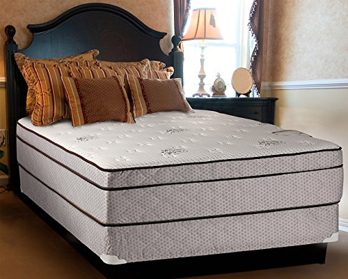 Continental Sleep Fifth Ave Collection, Fully Assembled  Mattress Set With 13' Soft Euro Top Orthopedic Queen Mattress and 8' Box Spring