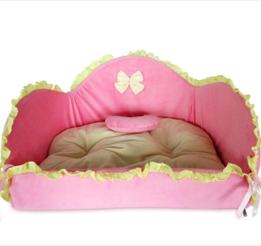 B 55X40X24CM B 55X40X24CM GZDXHN Kennel Cute Ruffled Cat Nest Removable And Washable Four Seasons Universal Small Medium Dog Pet Nest Pet Nest