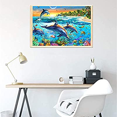 ANGELGG 1000 Pieces Jigsaw Puzzles Floor Puzzle Intellectual Game for Adults Kids Gift - Education Decompression Toys (Whale): Toys & Games
