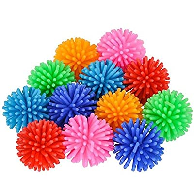 Rhode Island Novelty 1.25 Inch Spiky Hedge Balls Set of 12: Toys & Games