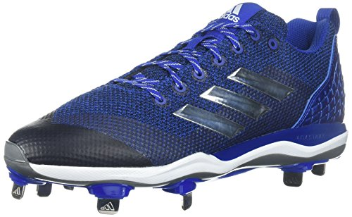 adidas Originals Men's Freak X Carbon Mid Softball Shoe, Collegiate Royal/Metallic Silver/White, 13 Medium US
