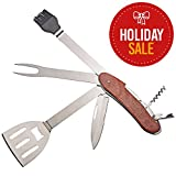 Amethya 6 in 1 BBQ Tool Set, Portable Grill Tool Set, Grilling Multitool, Backyard Grilling, Barbecue, Camping