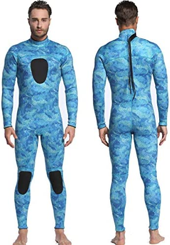 MYLEDI Unisex Neoprene 3mm Scuba Diving Suit One Piece Mens Camo Full Body Spearfishing Wetsuit