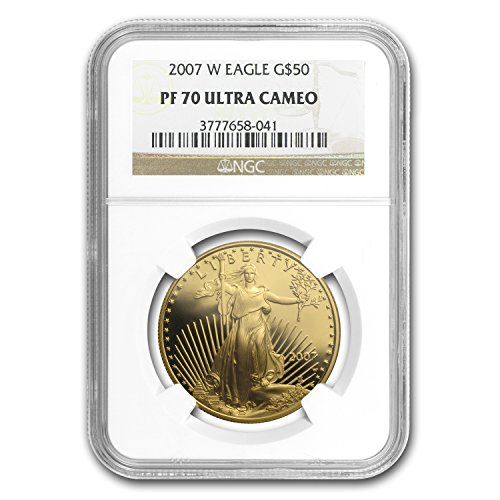 2007 W 1 oz Proof Gold American Eagle PF-70 NGC 1 OZ PF-70 - 2007 Gold Eagle Coins American