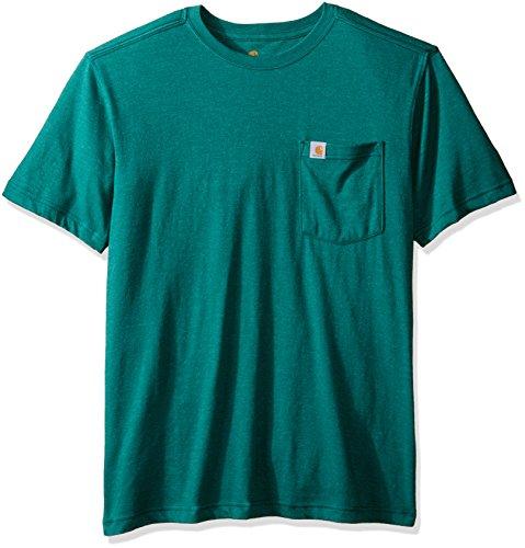 Carhartt Men's Maddock Pocket Short Sleeve T-Shirt, Alpine Green Heather, X-Large