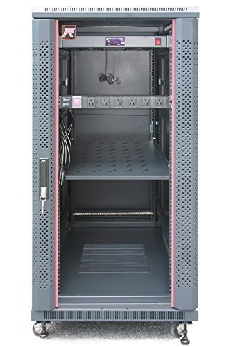 27U Free Standing Server Rack Cabinet.Fit most of servers. ACCESSORIES FREE!! Network IT Rack Cabinet Enclosure. - Shipping Time Fedex Average Ground