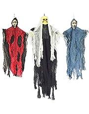 """JOYIN Set van drie opknoping skelet spook Halloween decoraties - een 35"""" (88cm) opknoping spookskelet en twee 25"""" (63cm) hangende maaiers"""