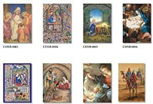 20 BOXED CHRISTMAS CARDS-FINE ART RELIGIOUS THEMES