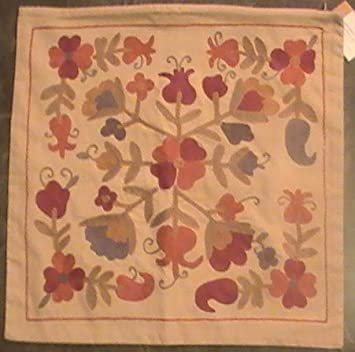 Pottery Barn Embroidered Harvest Pillow Cover