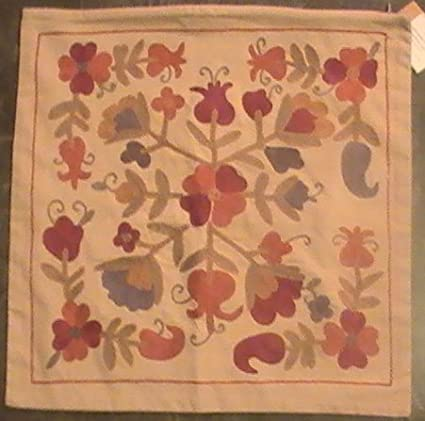 pottery barn embroidered harvest pillow cover - Pottery Barn Pillow Covers