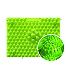 Foot Massager Fingerboard Massage Pad Durable Walking Mat Blood Circulation Root Funny Tricky Toys Screaming Artifact, 30*40Cm, 4 Pieces,Green