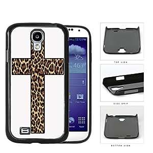 Cute Religion Leopard Print Cross Hard Plastic Snap On Cell Phone Case Samsung Galaxy S4 SIV I9500