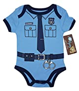 THE POLICEMAN Funny Baby Boy Girl Novelty Uniform Costume Onesie - Cute Bodysuit