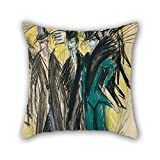 loveloveu 20 x 20 inches / 50 by 50 cm oil painting Ernst Ludwig Kirchner - Berlin Street Scene cushion covers ,each side ornament and gift to sofa,play room,coffee house,lounge,seat,chair