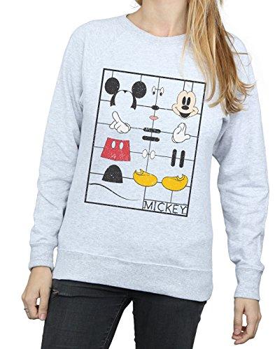 De Kit Camisa Entrenamiento Mickey Construction Gris Mujer Mouse Cuero Disney IZSYw