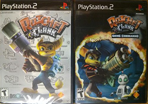 Ratchet and Clank Going Commando Collection Playstation 2 PS2 (Ratchet And Clank Up Your Arsenal Ps2)