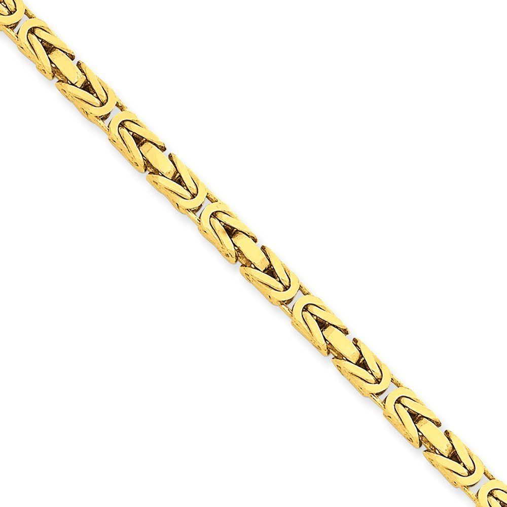 14K Yellow Gold 3.25mm Byzantine Chain Bracelet, 7'' by Mireval