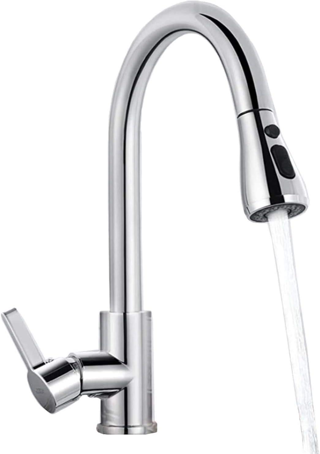 Wasserhahn AUTLEAD Ausziehbar Küchenarmatur mit 360° Schwenkbare und Hohe Bogenauslauf