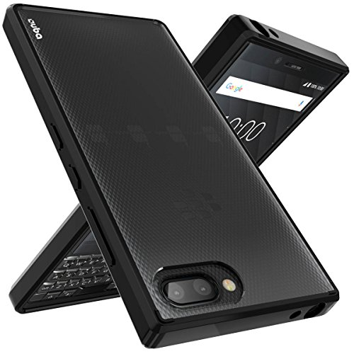 BlackBerry KEY2 Case, OUBA [Shock Absorbing] Air Hybrid Slim fit Armor Shockproof Drop Protection Crystal [Clear] Back Protective Case + TPU Bumper Cover for BlackBerry KEY2 / KEYtwo (2018) – Black