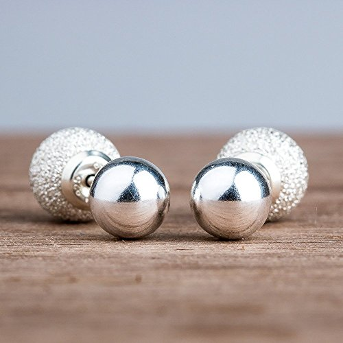 double-sided-front-back-ball-earrings-in-sterling-silver-with-stardust-textured-backs
