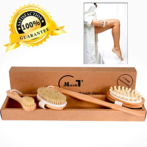 Dry Brushing Body Brush Set for Exfoliating Dry Skin |