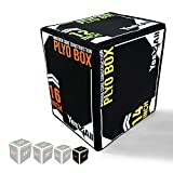 Yes4All 3 In 1 Soft Plyo Box Wooden Core, Foam Plyometric Box for Exercise, Crossfit, MMA, Plyometric Training , Available in 4 sizes