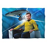 STAR TREK/CAPTAINS CHAIR (FRONT/BACK PRINT)-PILLOW CASE-WHITE-ONE SIZE FITS ALL