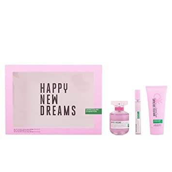 Benetton United Dreams Happy New Dreams Agua de Colonia + Loción Hidratante + Colonia Mini - 1 Pack: Amazon.es: Belleza