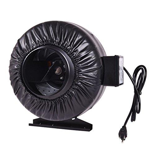 onestops8 6'' Inch Inline Fan Hydroponics Exhaust Fan Duct Cooling Fan Strong CFM New by onestops8