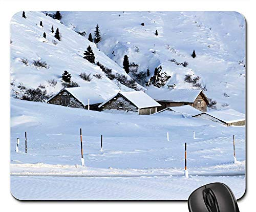 Mouse Pad - Snow Winter Bergdorf Alpine Switzerland Village
