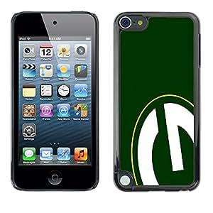 KLONGSHOP // Cubierta de piel con cierre a presión Shell trasero duro de goma Protección Caso - GRAMO - Apple iPod Touch 5 //