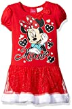 Disney Big Girls Minnie Mouse Tutu dress with Faux Fur Trim, Red, 4