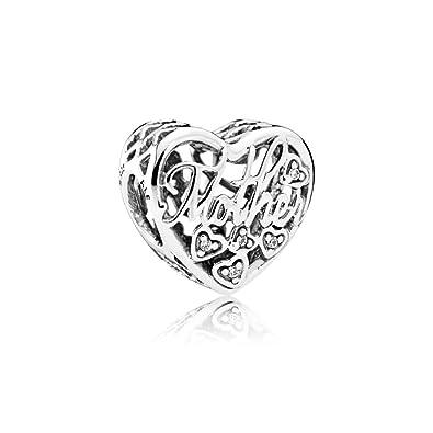 Pandora Women Silver Bead Charm - 792109CZ bCFuvsG