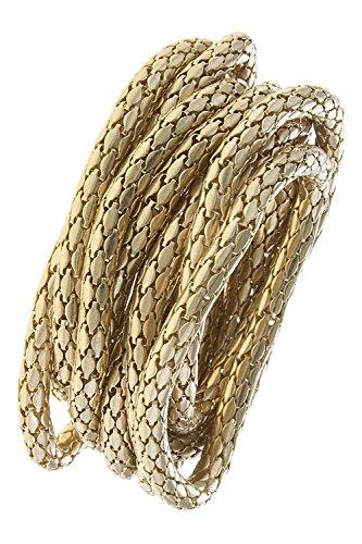 John Hardy Silver Chain Bracelet (TRENDY FASHION JEWELRY SNAKE CHAIN MULTI BRACELET SET BY FASHION DESTINATION | (Gold))