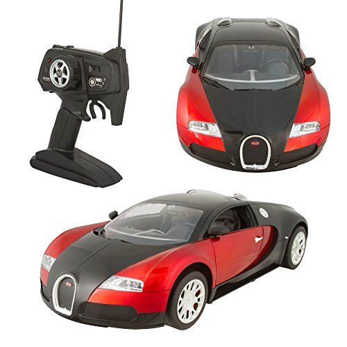 [Remote Control RC Bugatti 1:10 Quick Speed Authentic Design - Includes Battery and UL Certified Charger - Red] (Universal Nitro Starter Box)