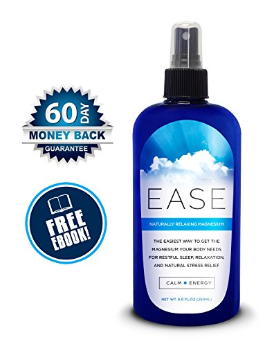 Magnesium Ease Oil Spray 250 ml  Free eBook on Magnesium. Non-Greasy Magnesium Spray for Muscle and Joint Pain Relaxes Sore Muscles. 60 Day Money Back Guarantee.
