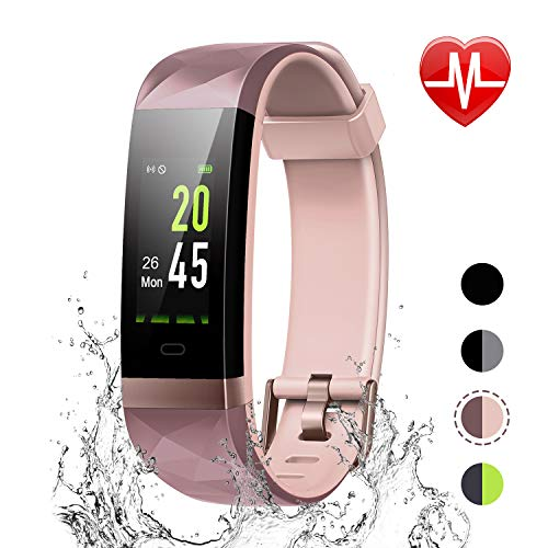 - LETSCOM Fitness Tracker Color Screen, IP68 Waterproof Activity Tracker with Heart Rate Monitor, Sleep Monitor, Step Counter, Calorie Counter, Smart Pedometer Watch for Men Women Kids
