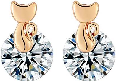 [해외]Vi.yo 귀걸이 사랑 스러운 고양이 지 반짝반짝 액세서리 보석 여성 여성용 1 켤레 / Vi.yo Earrings Cute Cat Zircon Glitter Accessories Jewelry Women`s Ladies 1 Pair