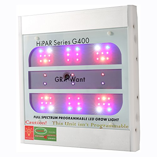 GROWant 400Watt Aluminum LED Grow Light OSRAM LEDs Integrated & Full Spectrum Enhanced for Indoor Plants Veg and Flower - White by GROWant