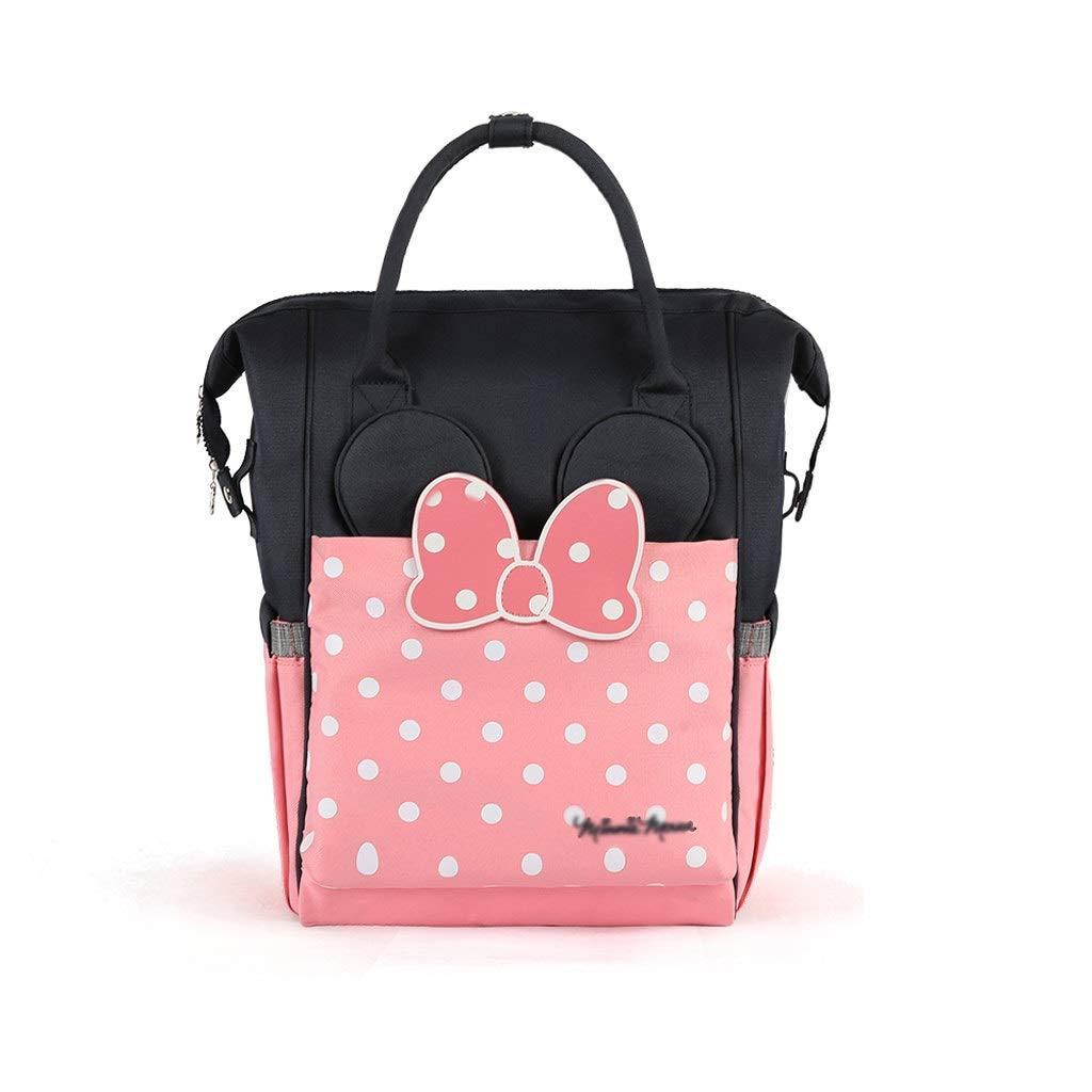Wickeltasche Rucksack Gro/ße Reisetasche f/ür Mutter und Baby geeignet f/ür Jungen//M/ädchen auf Reisen,Isolierung paket Wasserdichte Wickelrucksack Tasche Pink