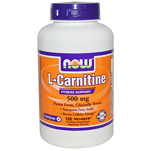 Now Foods L-Carnitine 500 mg - 180 Vcaps 6 Pack by NOW Foods