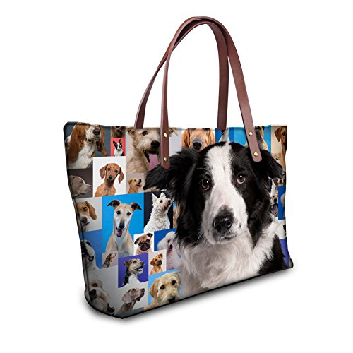 Showudesigns Border Collie Printing Shoulder Bag Women Messenger Tote Bag by Showudesigns