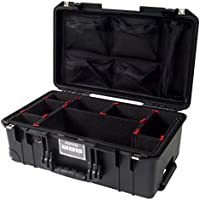 CVPKG Presents Black Pelican 1535Air case, with TrekPak Divider System & 1535 lid organizer.