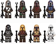 Haho Baby Yoda Mandalorian Building Blocks,Building Model The Mandalorian Building Block Kit Collectible Mini